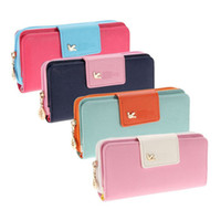 Wholesale Key Cases For Girls - Wholesale- New Small Leather Change Coin Purse Key Fashion Lady Zipper Brand Women Wallet Female Case Pouch Phone Bag For Girl Euro Money