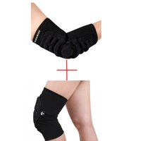 sponge protective gear - Sponge Knee Pads Elbow Pads Skiing Knee Protective Gears MTB Cycling Protection Downhill Motorcycle Elbow Skateboard Protector