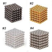 Wholesale Magnetic Ball Puzzles - magnetic cubes rubik cube 3mm 216pcs Neo Cube Magic Puzzle Metaballs Magnetic Ball With Metal Box Magnet Magic Toys