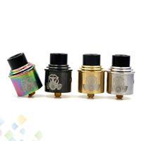 Wholesale E Cigarette Atomizer Drip Tip - Newest Apocalypse GEN 2 RDA Atomizers With Wide Bore Drip Tip 24mm PEEK Insulators 4 Colors Fit 510 E Cigarette DHL Free