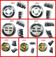 Wholesale Mink Eyelashes Glue - Magnetic Eyelashes 3D Mink handmade lashes no glue easy remove False Eye Lashes Extension Super Natural Long Fake Eyelashes free shipping