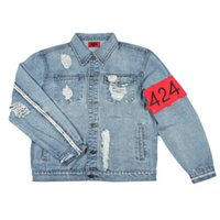 Wholesale Jaqueta Jeans Masculina - Quality Denim jacket men Destroyed hip hop streetwear jaqueta jeans masculina mens jackets and coats vintage jacket