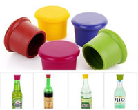 Wholesale Cap Rack Wholesale - Best Wine Silicone Bottle Cap Art Gifts Accessories to Label Your Personalized Wine Bottles and Racks Seal with Reusable 100pcs