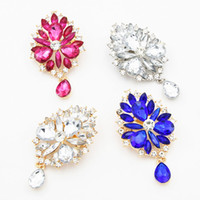 Wholesale Pendent Stones - New Arrival Acrylic Waterdrop Stone Pendent Brooch Hot Selling Delicate Jewelry Pins Fashion Lapel Pins For Men And Women