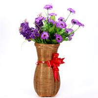 Wholesale Vase Craft Basket - Quality manual bamboo vase dry flower basket bamboo products receive craft decoration picking basket basket chimney wine screen