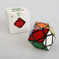 Wholesale Pvc Gifts Ideas - Wholesale- Lanlan Rhombic Dodecahedron White Black PVC sticker Educational Cubo Magico Toy Gift Idea Free Shipping Drop Shipping