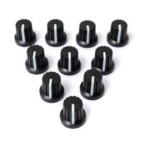 Wholesale Wholesale Knurled Knob - New 10 Pcs 6mm Shaft Hole Dia Plastic Threaded Knurled Potentiometer Knobs Caps