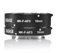 Wholesale Meike Extension Tube - Wholesale- Meike MK-F-AF3 Metal Auto Focus Macro Extension Tube 10mm 16mm for FUJIFILM XPro2 XT1 XA2 XE2 XE2s X70 XE1 X30 X70 XM1 XA1 XPro1