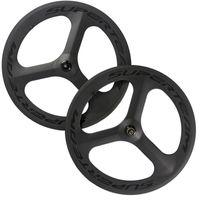 Wholesale Tri Spoke Fixed Gear Wheel - Superteam 3 Spoke Carbon Wheelset Tri Spoke Road Wheels 70mm Clincher Fixed Wheel Road Bike Rims Free Shipping