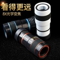 Wholesale 8x Zoom Optical Lens Camera Manual Focus Clip On Telescope Factory Direct sales High Quality For Universal Smartphone
