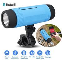 Wholesale Sport Mini Speaker For Bike - Portable Zealot S1 Bluetooth Speakers 4000mah Power Bank Rechargeable + LED Light for Outdoor Sport+Bike Mountian Brackets