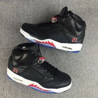Wholesale Cool Shoe Brands - brand retro 5 black white red online mens basketball shoes V 5s boy sneakers trainers free shipping sale cool quality