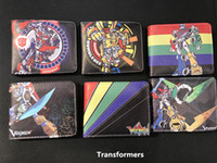Wholesale Transformer Coin - Prints Japan Cartoon Voltron Transformers Robot Cool Mens Wallets portefeuille homme cuir Coins Pockets Zipper Money Balsos Boy
