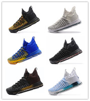300aa2e04029 Wholesale New Kevin Durant KD 9 Elite Playoffs Zoom Blue black white men  basketball Shoes KD9 sports sneakers low 9s trainers size 7-12