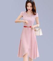 Wholesale Korean Long Skirt Wholesale - 2017 summer new Korean fashion long dress women show thin elegant fashion temperament pure chiffon skirt