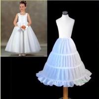 Wholesale Best Selling Kids Accessories - Best Selling Children Petticoat 2017 A-line 3 Hoops Kids Crinoline Bridal Underskirt Wedding Accessories For Flower Girl Dress CPA306