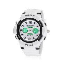 Wholesale Ohsen Digital Girls Watch - OHSEN Sport Six Color Watches Boys Girls Young Man Woman Analog Digital Dual Time Day Date Alarm Quartz Wrist Watch AD1612