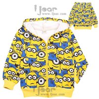 Wholesale Despicable Minion Stuart - Jorge Stuart Dave Children Clothes Boys Minion Despicable Me Jackets Outerwear Winter Children Coats Kids Thicken padded Clothes