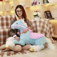 Wholesale Girls Stuffed Animal Huge - Unicorn Plush Toy 90cm Horse Soft Doll Cute Huge Stuffed Animal Plush Kids Toys Birthday Christmas Gift For Girl