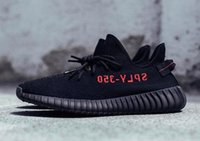 Wholesale Tennis Shoe Boots Wholesalers - SPLY 350 V2 Triple White Belgua Copper Olive Green Black Red Bred Zebra Core Red Boost 350 V2 Kanye West Running shoes With Box