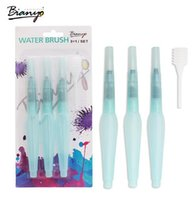 Wholesale 3Pcs Different Size Large Capacity Barrel Water Paint Brush Set For School Self Moistening Water Storage Pen Art Supplies