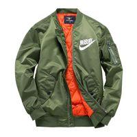 abrigos negros de talla grande al por mayor-MA1 chaquetas piloto kanji negro verde vuelo japonés MERCH BOMBER MA-1 Chaquetas chaquetas cremallera ropa masculina outwears más tamaño 4XL
