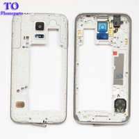 Wholesale Replacement Plates - 50pcs LCD Middle Plate Housing Frame Bezel Camera Cover Replacement parts For Samsung Galaxy S5 G900F G900M G900H G900A G900V G900T