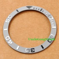 Wholesale diy watch parts - Watch Parts Corgeut mm Grey Ceramical Bezel Fit for mm SUB Automatic Watches Timepiece Insert for DIY Clocks BZSUB38GY