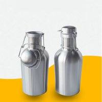 Wholesale Stainless Steel Beer Growler oz Swing Top Beer Growler Beer Bottle Ultimate Growler Litre Stainless Home Brew ZA1553