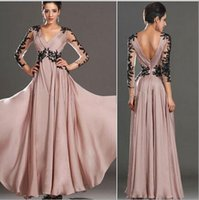 Wholesale Sexy Long Sleeved Maxi Dresses - Europe and the United States new hot women's explosive sexy lace stitching long-sleeved dress evening dress nightclub dress