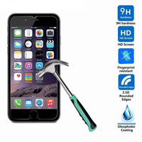 Wholesale Iphone Screen Protector Bag - Tempered Glass Film Screen Protector iPhone 7 i7 Plus 6 Plus Iphone 6S Plus I6 Galaxy s8 with OPP bag