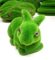 Wholesale Grass Land Animals Artificial - Grass Land Creative Handicraft Animal Rabbit Artificial Turf Skin decorating Gift Size:25*15*15cm