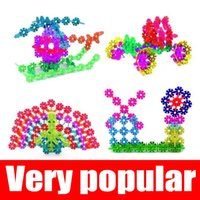 Wholesale Good Jigsaw - Children Souptoys snowflake piece assembling building block Jigsaw puzzle Toys A variety of colors Mixed Deliver goods