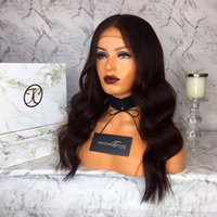 Wholesale Wigs Parts - Lace Front Human Hair Wig Body Wave Deep Part Lace Wig Natural Wave Brazilian Virgin Hair 150% Density Pre-plucked Hairline With Baby Hair