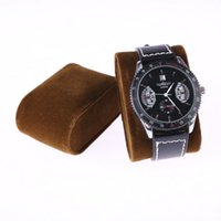 10 pcs Nice Brown Velvet Watch Display Cushion Stand, Suporte de pulseira