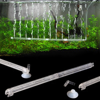 Aquário Fish Tank Curtain Air Vent Bubble Bar Release Difusor Set Novo plástico Aquarium Fish Tank Accessories akvaryum dekor