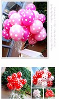 Wholesale Party Dots For Balloons - 100pcs Mixing 12-Inch Polka Dot Balloon Corrugated Latex Balloons for Party Wedding Birthday Decoration