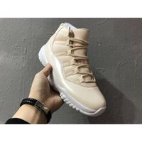 Compra Aria Di Golf-Air Retro 11 Uomini Beach Men Scarpe da Basket Pearl Rice Bianco Uomo Retros 11s Scarpe Sportive Scarpe da Tennis Sneakers