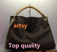 Wholesale Bucket Bag Purse - Top AAAAA 1:1 oxidize cowhide Brand new Top quality women genuine calfskin Leather artsy handbag tote satchel purse tp02 #40249 #40259
