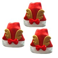 Wholesale Merry Christmas Costume - Actionclub Merry Christmas Decorations New years Christmas Party Santa Hat Red And White Cap Christmas Hat For Santa Claus Costume Christmas