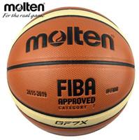 redes de basquete ao ar livre venda por atacado-Oficial bolas de basquete fundido gf7x tamanho 7 pu material bola de basquete ao ar livre treinamento indoor ballon livre com saco de rede + pin