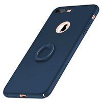 iphone ring ring achat en gros de-Pour iPhone 6 6s 7 Plus cas gommage dur PC avec porte-anneau mince couverture de protection téléphone US1