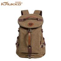 Wholesale Kaukko Canvas Bags - Wholesale- Kaukko Large Capacity Shoulder Bag Mens traval Canvas Backpack Unisex Bags for Teenager School Knapsacks