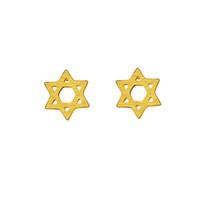 Wholesale Faith Earrings - Wholesale 10Pcs lot 2017 Fashion 18K Gold Earrings Jewish Jewelry Lot Earrings Israel Ethnic Faith Star of David Stud Earrings 925 Silver