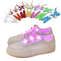 lacets de nylon menés achat en gros de-LED clignotant éclairé lacets de nylon Hip Hop lacets éclairage éclairant le sport Patinage LED lacets de chaussures lacets bande de bras / jambe