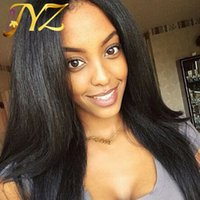 Wholesale cheap straight human hair wigs for sale - Cheap Lace Front Wigs With Baby Hair Full Lace Wig Brazilian Hair Straight Pre Plucked Human Hair Wigs for black women