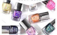 Wholesale Laser Magic Colour - New beauty diamond laser nail polish environmental protection 7 colour magic colour laser nail polish 7ml