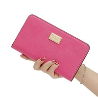 Wholesale Ladies Nude Photos - Pink Letter Lady PU Leather Wallets Coin Card Holder Purse Black Pink Nude Color Handbag 2017 New Arrival 3007005