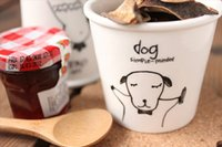 Wholesale Chinese Porcelain Spoons - Wholesale- free shipping - lovely animal Chinese Zodiac (dog) cups Ceramic Eco Cup porcelain Mug Coffee Cup milk cup