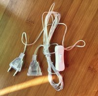 interruptor pir 24v venda por atacado-Luzes Led luzes piscando luzes da corda cortina de luz 3 metros de linha de extensão da linha de extensão 3 metros cabo de extensão plugue linha 5 pcs / 1 lote